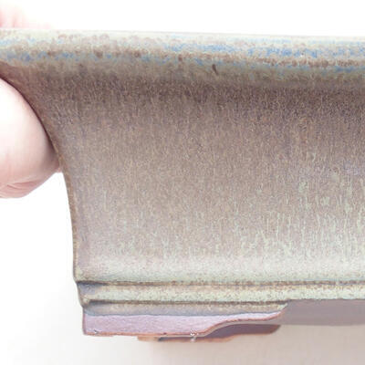 Ceramic bonsai bowl 20 x 15.5 x 6 cm, gray color - 2