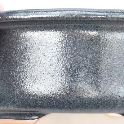 Ceramic bonsai bowl 22 x 18 x 7.5 cm, gray color - 2