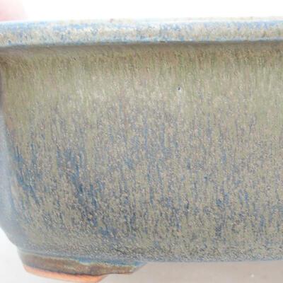 Ceramic bonsai bowl 23.5 x 20 x 7 cm, color blue - 2