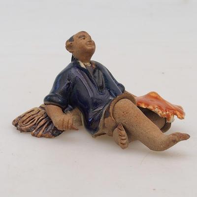 Ceramic figurine - rice picker - 2