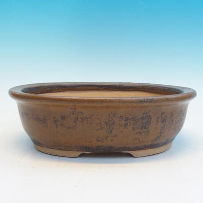 Bonsai ceramic bowl CEJ 56, brown - 2