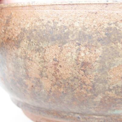 Ceramic bonsai bowl 16 x 16 x 6.5 cm, brown color - 2