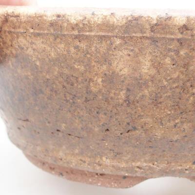 Ceramic bonsai bowl 17 x 17 x 6.5 cm, brown color - 2