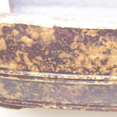 Ceramic bonsai bowl 24 x 19 x 7 cm, color yellow-brown - 2