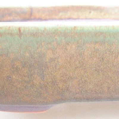 Ceramic bonsai bowl 23 x 17.5 x 5 cm, color green - 2