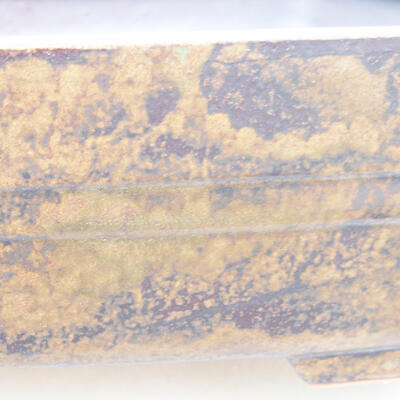 Ceramic bonsai bowl 26 x 20 x 8 cm, color brown - 2