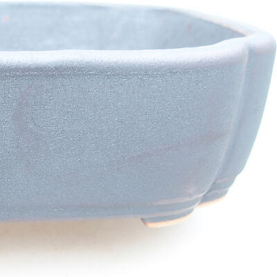 Ceramic bonsai bowl 15 x 11 x 4 cm, metal color - 2