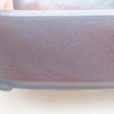 Ceramic bonsai bowl 17.5 x 13.5 x 5 cm, metal color - 2