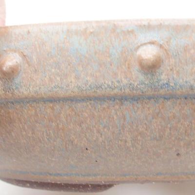 Ceramic bonsai bowl 20 x 20 x 5.5 cm, brown-blue color - 2
