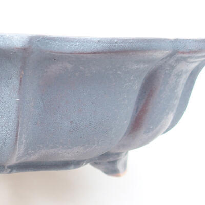 Ceramic bonsai bowl 17 x 17 x 4.5 cm, metal color - 2