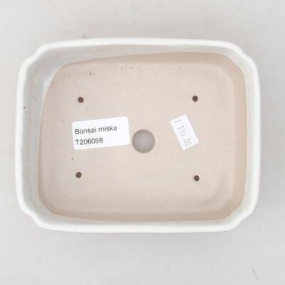 Ceramic bonsai bowl 15 x 11.5 x 4 cm, white color - 2