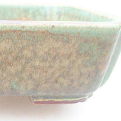 Ceramic bonsai bowl 15 x 11.5 x 4 cm, color green - 2