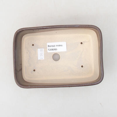 Ceramic bonsai bowl 15.5 x 10.5 x 5 cm, brown color - 2