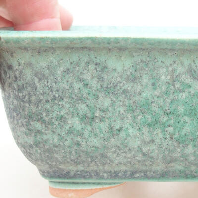 Ceramic bonsai bowl 13 x 10 x 5 cm, color green - 2