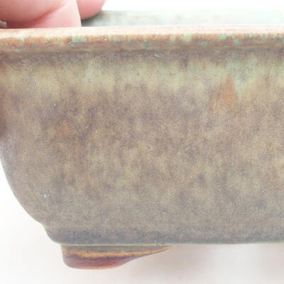 Ceramic bonsai bowl 13 x 10 x 5 cm, color green - 2