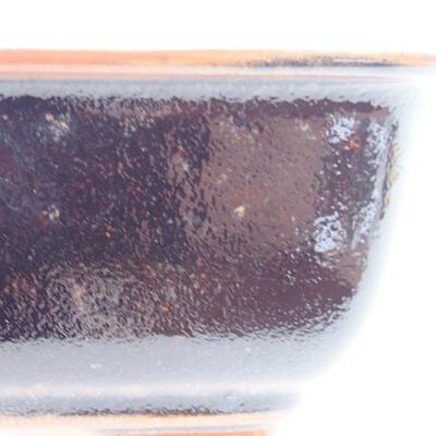 Ceramic bonsai bowl 13 x 10 x 5 cm, color brown-black - 2