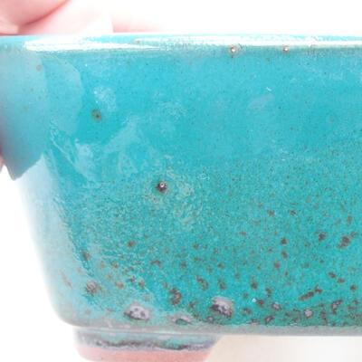 Ceramic bonsai bowl 13 x 10 x 5.5 cm, color green - 2