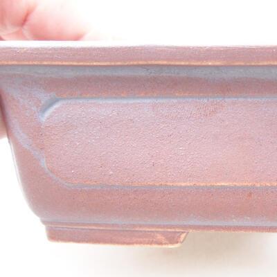 Ceramic bonsai bowl 16.5 x 11 x 5 cm, metal color - 2
