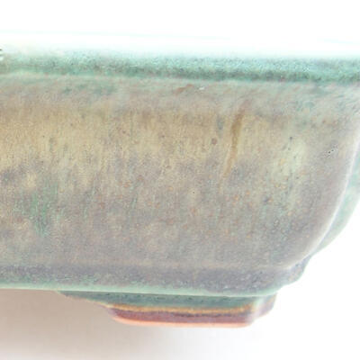 Ceramic bonsai bowl 17 x 13 x 4.5 cm, color green - 2