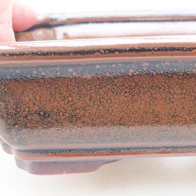 Ceramic bonsai bowl 17 x 13 x 4.5 cm, brown color - 2