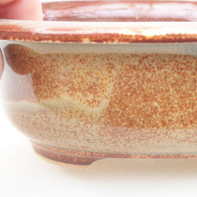 Ceramic bonsai bowl 14 x 11 x 5 cm, color brown - 2
