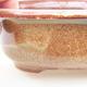 Ceramic bonsai bowl 14 x 11 x 5 cm, color brown - 2/3