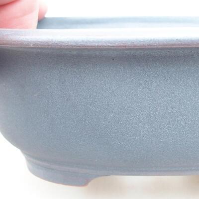 Ceramic bonsai bowl 14 x 11 x 5 cm, metal color - 2