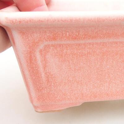 Ceramic bonsai bowl 13 x 10 x 5 cm, color pink - 2