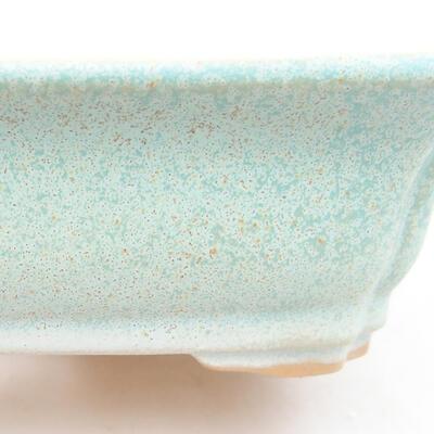 Ceramic bonsai bowl 12 x 9.5 x 4 cm, color green - 2