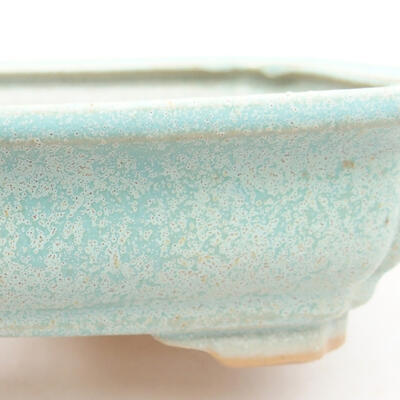 Ceramic bonsai bowl 13 x 9.5 x 3.5 cm, color green - 2