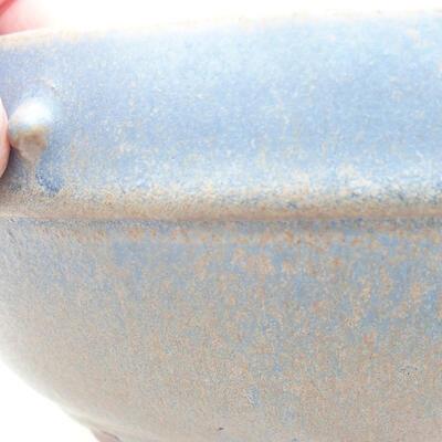 Ceramic bonsai bowl 17 x 17 x 7 cm, color blue - 2