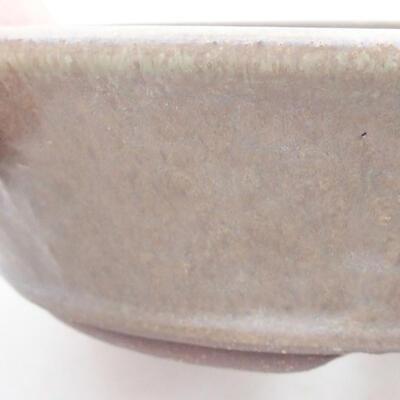 Ceramic bonsai bowl 18 x 18 x 5 cm, color brown-green - 2