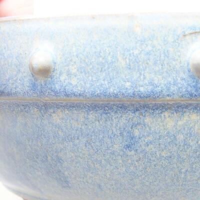 Ceramic bonsai bowl 21 x 21 x 7 cm, color blue - 2