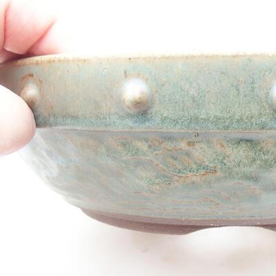 Ceramic bonsai bowl 19 x 19 x 6 cm, color green - 2