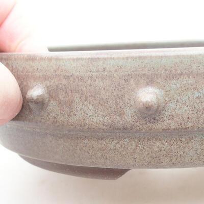 Ceramic bonsai bowl 18 x 18 x 4.5 cm, gray color - 2