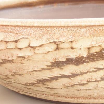 Ceramic bonsai bowl 36.5 x 36.5 x 9.5 cm, beige color - 2