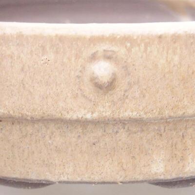 Ceramic bonsai bowl 17 x 17 x 4.5 cm, beige color - 2