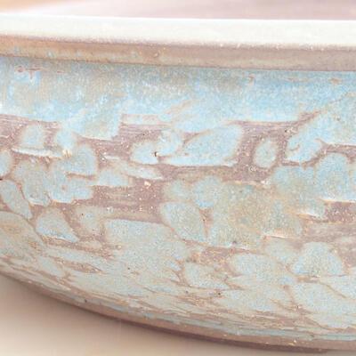 Ceramic bonsai bowl 38 x 38 x 9 cm, color blue - 2