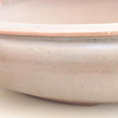 Ceramic bonsai bowl 37 x 37 x 9 cm, color brown-green - 2