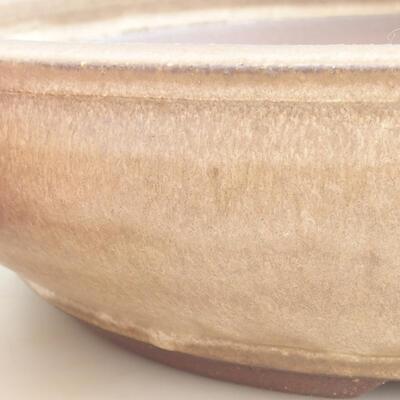 Ceramic bonsai bowl 37.5 x 37.5 x 9 cm, brown color - 2