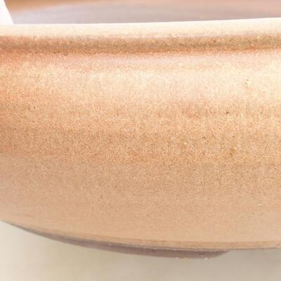 Ceramic bonsai bowl 34 x 34 x 8.5 cm, brown color - 2