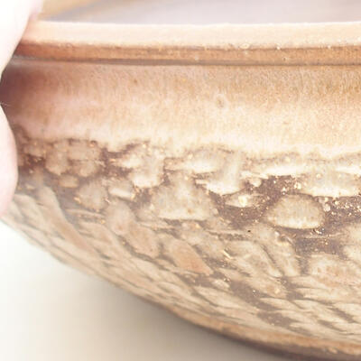 Ceramic bonsai bowl 37 x 37 x 9 cm, beige color - 2