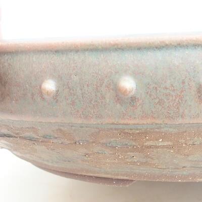 Ceramic bonsai bowl 35 x 35 x 8 cm, color green - 2