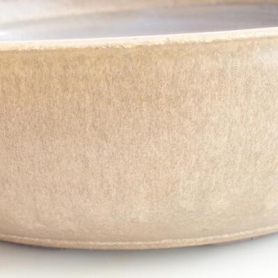 Ceramic bonsai bowl 37 x 37 x 10 cm, color brown - 2