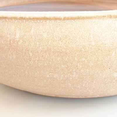 Ceramic bonsai bowl 39 x 39 x 11 cm, color beige - 2
