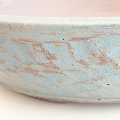 Ceramic bonsai bowl 38 x 38 x 8.5 cm, color green-blue - 2
