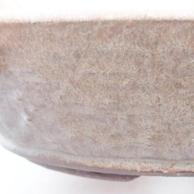 Ceramic bonsai bowl 21 x 21 x 5 cm, color brown - 2
