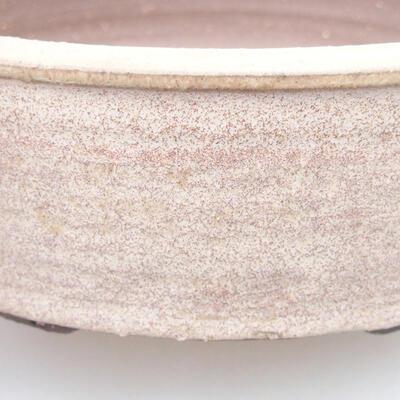 Ceramic bonsai bowl 20 x 20 x 6 cm, beige color - 2