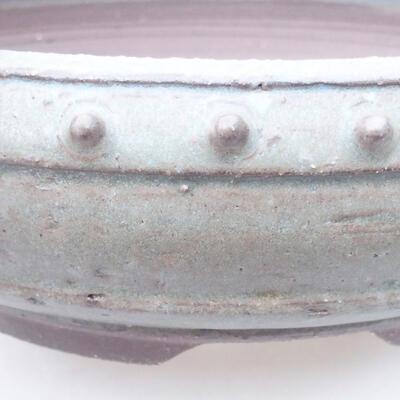 Ceramic bonsai bowl 24 x 24 x 7.5 cm, gray color - 2