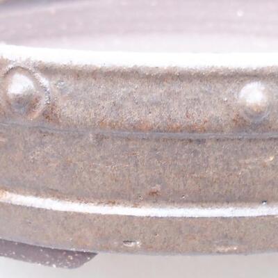 Ceramic bonsai bowl 26 x 26 x 5.5 cm, brown color - 2
